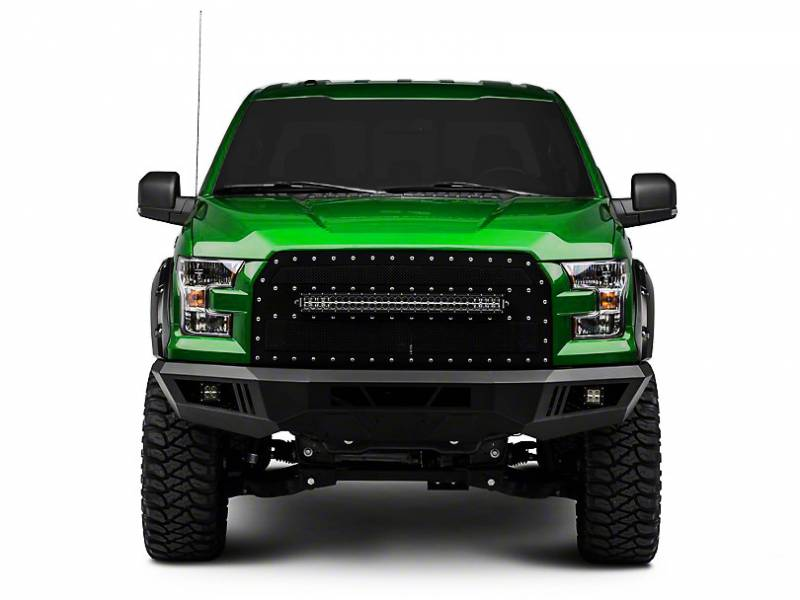 Black Horse Off Road Afb F Kit Black Armour Front Hd Bumper With