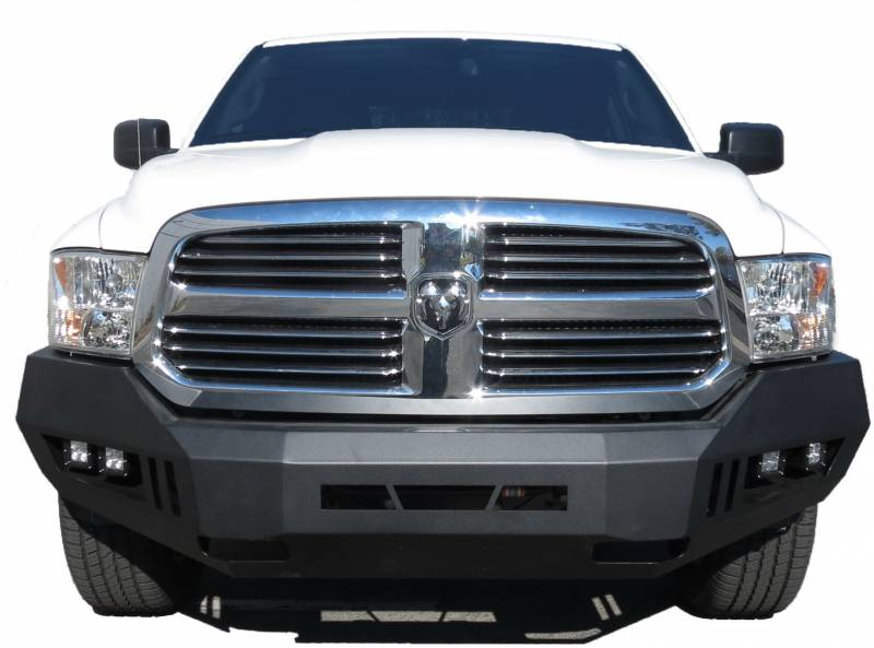 Black Horse Black Armour Front Hd Bumper With Light Kit Afb