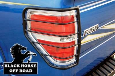 Black Horse Off Road - L | Tail Light Guards | Black | 7FDF1A