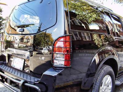 Black Horse Off Road - Tail Light Guards 7G110206A - Black Nissan Pathfinder