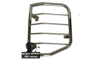 Black Horse Off Road - L | Tail Light Guards | Stainless Steel | 7G151006SS