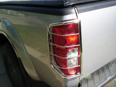 Black Horse Off Road - Tail Light Guards 7NIFRSS - Stainless Steel Nissan Frontier