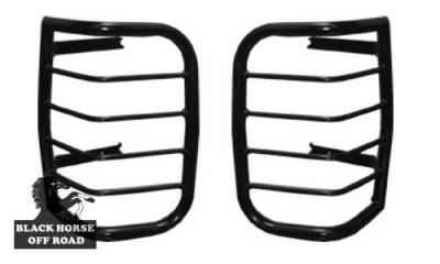 Black Horse Off Road - Tail Light Guards 7TN15A - Black Toyota 4Runner