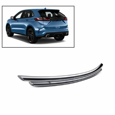 Black Horse Off Road - Double Layer Rear Bumper Guard 8D049418SS-DL - Stainless Steel Ford Edge