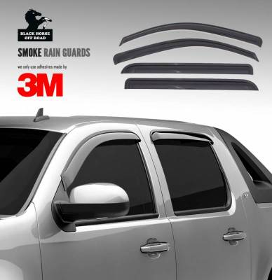 Black Horse Off Road - O | Rain Guards | Color: Smoke | Tape On | 141644