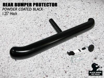 Black Horse Off Road - H | Rear Bumper Protector | Black | For 1.25in Receiver