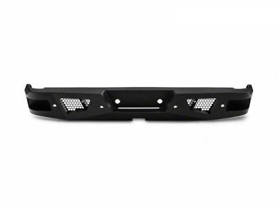 Black Horse Off Road - I | Armour Heavy Duty Rear Bumper Kit | Black | With LED Lights (2x pair LED cube) | ARB-F115-KIT
