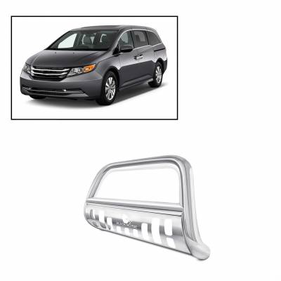 Black Horse Off Road - Bull Bar BBHO1-SP - Stainless Steel with Stainless Steel Skid Plate Honda Odyssey