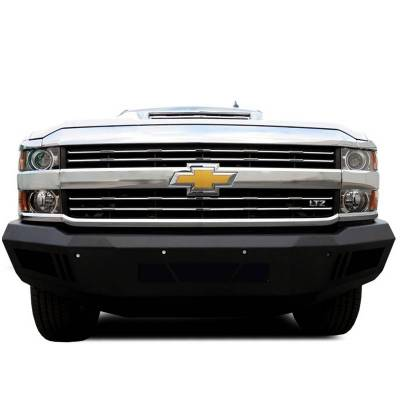 Black Horse Off Road - B | Armour Front Bumper | Black | AFB-SI25-15