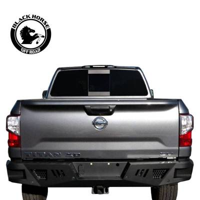 Black Horse Off Road - I | Heavy Duty  Armour Rear Bumper | Black |   ARB-NITI