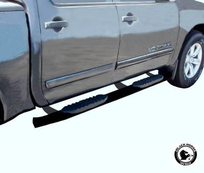 Black Horse Off Road - F | Extreme Side Steps | Black | Crew Cab | 9NITIA-BN