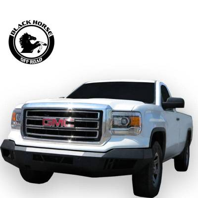 Black Horse Off Road - B | Armour Front Bumper | Black | AFB-GM14