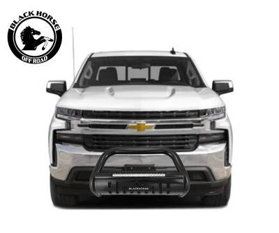 Black Horse Off Road - A | Beacon Bull Bar | Black | Skid Plate | BE-GMSIB-19