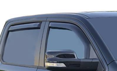 Black Horse Off Road 140540 Smoke Acrylic 4 Pieces Tape On Door Visor Rain Guards