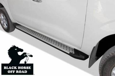 Black Horse Off Road - E | Vortex Running Boards | Aluminum |   VO-F184