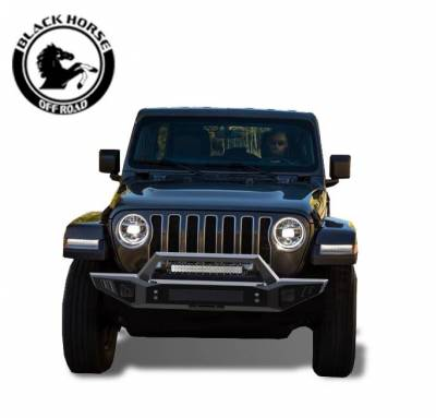 Black Horse Off Road - B | Armour Front Bumper | Black | AFB-WR20