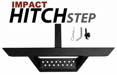 Black Horse Off Road - H | Impact Drop Hitch Step | Black | For 2in Receiver