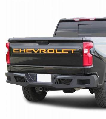 Black Horse Off Road - I | Heavy Duty Armour Rear Bumper | Black | ARB-SI25-20
