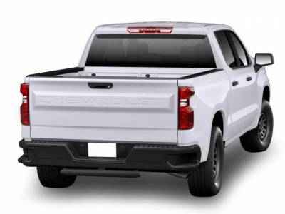 "Black Horse Off Road - H | Blade Rear Bumper Guard Step | Textured Black | 2"" Inlet - 48"" Long 