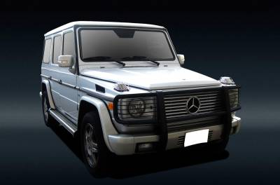 Black Horse Off Road - Grille Guard PGBZA008A - Black Mercedes-Benz G55 AMG & G550