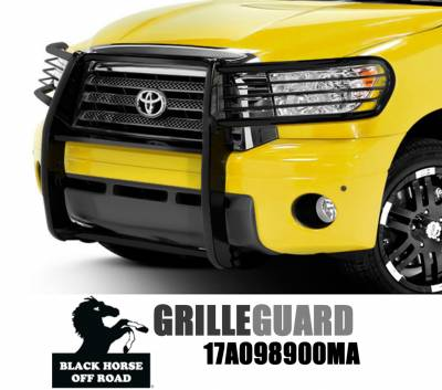 Black Horse Off Road - Grille Guard 17A098900MA - Black Toyota Tundra & Sequoia