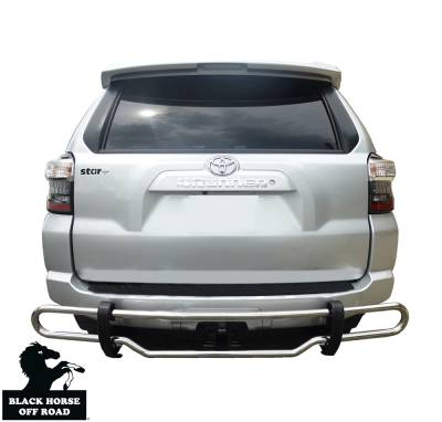 Black Horse Off Road - Double Tube Rear Bumper Guard 8TM30SS - Stainless Steel | 4Runner, GX460, GX470