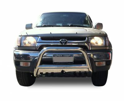 Black Horse Off Road - Bull Bar BB80234-SP - Stainless Steel with Stainless Steel Skid Plate Toyota Tacoma