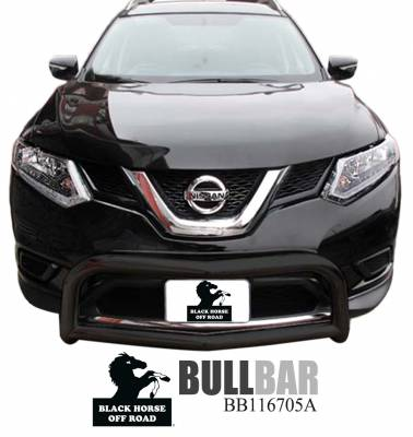 Black Horse Off Road - Bull Bar BB116705A-SP - Black with Black Skid Plate Nissan Rogue