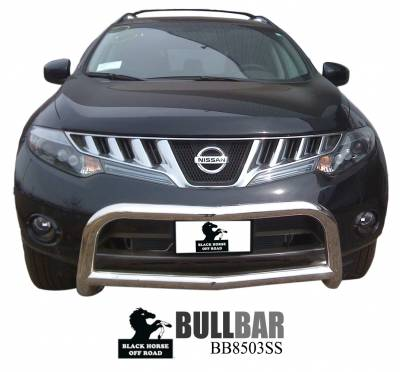 Black Horse Off Road - Bull Bar BB8503SS-SP - Stainless Steel with Stainless Steel Skid Plate Nissan Murano