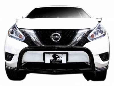Black Horse Off Road - Bull Bar BB8505A-SP - Black with Black Skid Plate Nissan Murano