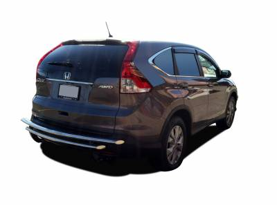 Black Horse Off Road - Double Layer Rear Bumper Guard 8B0520SS-DL - Stainless Steel Honda CR-V