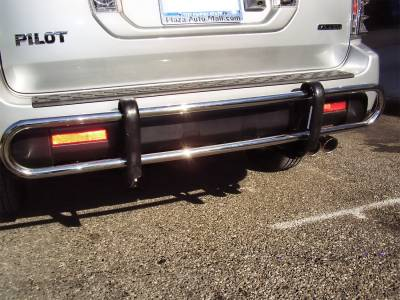 Black Horse Off Road - Double Tube Rear Bumper Guard 8D151016SS - Stainless Steel | MDX & Pilot
