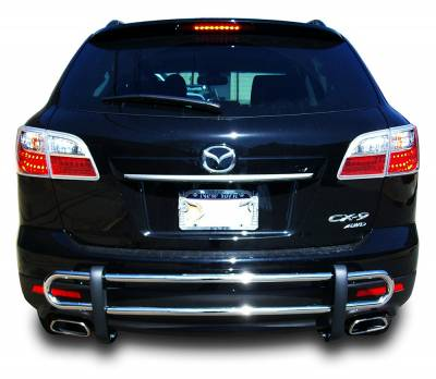 Black Horse Off Road - Double Tube Rear Bumper Guard 8D992355SS - Stainless Steel Mazda CX-9