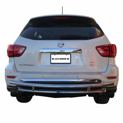 Black Horse Off Road - Double Layer Rear Bumper Guard 8D110318SS-DL - Stainless Steel Nissan Pathfinder
