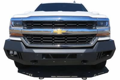 Black Horse Off Road - ARMOUR FRONT BUMPER FOR 15-19 CHEVY SILVERADO 2500/3500