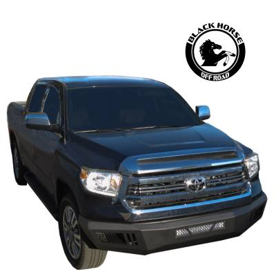 Black Horse Off Road - Black Horse Armour Front Bumper Black AFB-TU14 for 14-19 Toyota Tundra