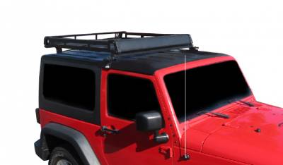 Black Horse Off Road - M | Traveler Roof Rack | Black | BA-JKBO-KIT40 Includes | 1 40in LED Light Bar