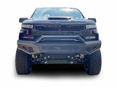 Black Horse Off Road - B | Armour Heavy Duty Front Bumper | Black | AFB-SI19