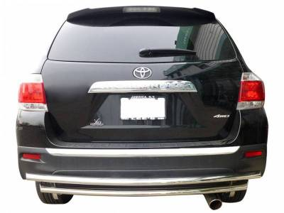 Black Horse Off Road - G   Rear Bumper Guard   Stainless Steel   Double Layer CRDL-TOT101S