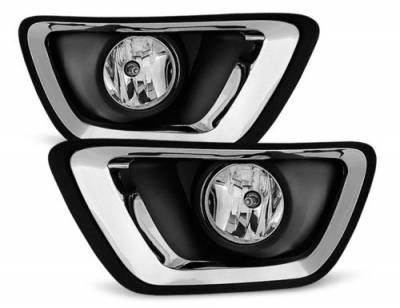 Lights - OEM Fog Lights - Black Horse Off Road - OEM Replica Fog Lights GM544OE Chevrolet Colorado