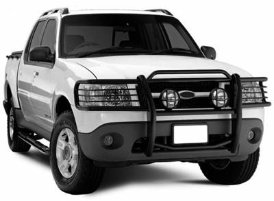 Front End Protection - Grille Guards - Black Horse Off Road - Grille Guard 17FJ24MA - Black Ford Explorer & Explorer Sport Trac