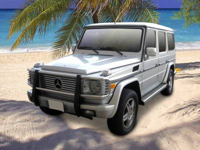 Black Horse Off Road - Grille Guard PGBZA008SS - Stainless Steel Mercedes-Benz G55 AMG & G550 - Image 3