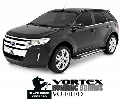 Side Steps & Running Boards - Vortex Running Boards - Black Horse Off Road - Vortex Running Boards VO-FRED Ford Edge