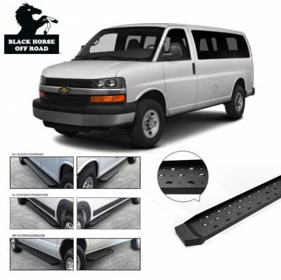 Side Steps & Running Boards - Spartan Running Boards - Black Horse Off Road - Spartan Running Boards SR-GMR13796 - Black Express 1500, 2500, 3500 & Savana 1500, 2500, 3500