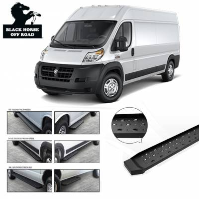 Side Steps & Running Boards - Spartan Running Boards - Black Horse Off Road - Spartan Running Boards SR-DOR353296 - Black Sprinter Van