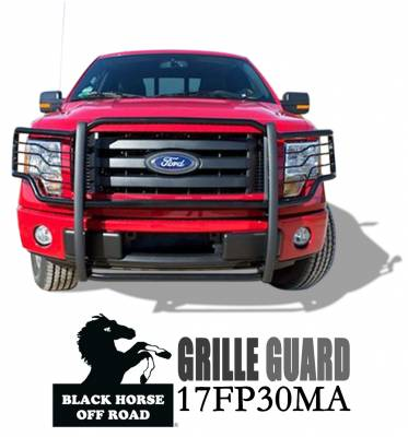 Black Horse Off Road - Grille Guard 17FP30MA - Black Ford F-150 - Image 2