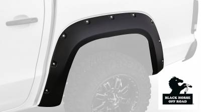 Products - Fender Flares - Black Horse Off Road - Fender Flares FF-GMCA-SM-04 - Black