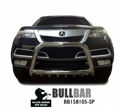 Black Horse Off Road - A | Bull Bar | Stainless Steel | Tube skid plate | BB158105-SP - Image 2