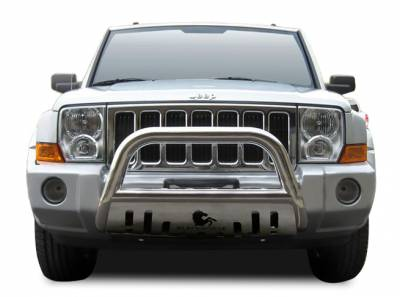 Front End Protection - Bull Bars - Black Horse Off Road - Bull Bar BB080800A-SP - Black with Black Skid Plate | Jeep Patriot Jeep Patriot