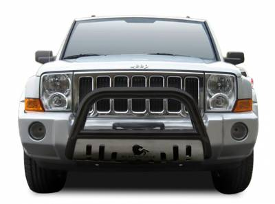 Front End Protection - Bull Bars - Black Horse Off Road - Bull Bar BB080800BS-SP - Black with Stainless Steel Skid Plate | Jeep Patriot